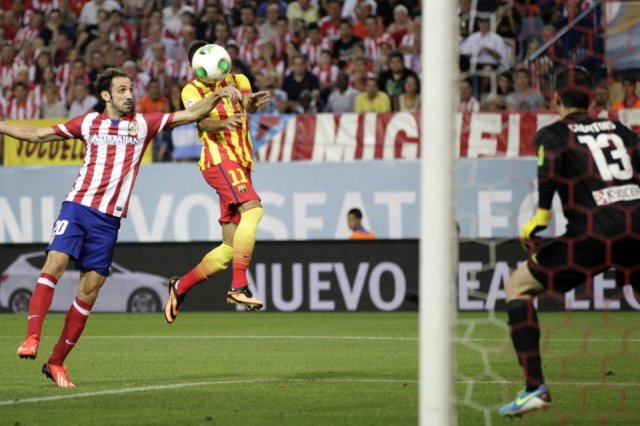atletico madrid 1-1 barcelona neymar head goal 2013