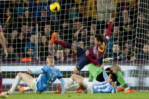 Barça 3-0 Malaga Alba clearance 2014