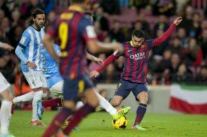 Barça 3-0 Malaga Pedro goal 2014