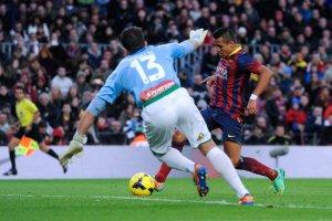 Barça 4-0 Elche Alexis goal 2014