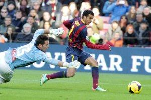 Barça 4-0 Elche Pedro goal 2014