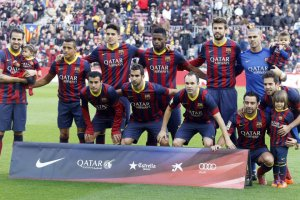Barça 4-0 Elche team photo 2014