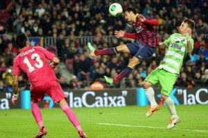 Barça 4-0 Getafe Pedro Copa 2014