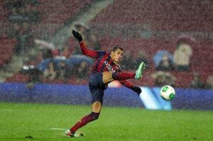 Barça 5-1 Levante Alexis in the rain Copa del Rey 2014