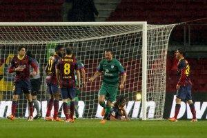 Barça 5-1 Levante own goal Sergi Roberto Copa del Rey 2014