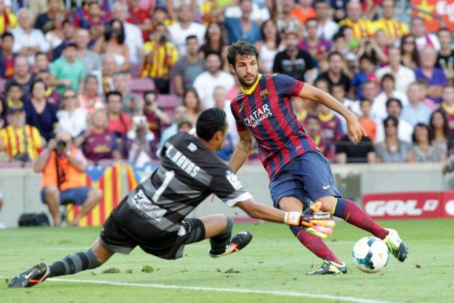 barcelona 7-0 levante fabregas assist 2013