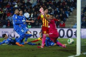 Getafe 0-2 Barça Messi first goal 2014