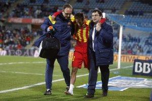 Getafe 0-2 Barça Neymar injured 2014