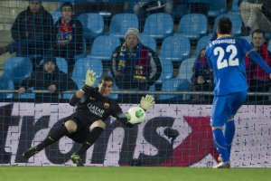 Getafe 0-2 Barça Pinto save 2014
