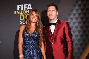 Leo Messi and Antonella Roccuzzo FIFA gala 2013