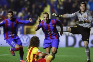 Levante 1-4 Barça El Zhar goal 2014