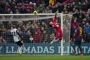 barça 2-3 valencia alexis goal 2014