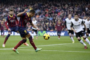barça 2-3 valencia alexis sanchez goal 2014