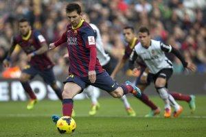 barça 2-3 valencia messi penalty goal 2014