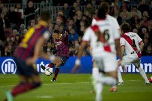 Barça 6-0 Rayo Vallecano Adriano goal 2014