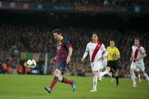 Barça 6-0 Rayo Vallecano Leo Messi goal 2014
