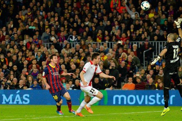Barça 6-0 Rayo Vallecano Messi scores goal 2014