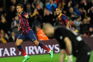 Barça 6-0 Rayo Vallecano Neymar goal celebration 2014