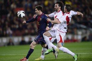 barcelona 3-1 rayo leo messi 2013