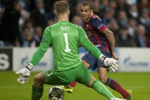 Man City 0-2 Barça Alves 2nd goal 2014