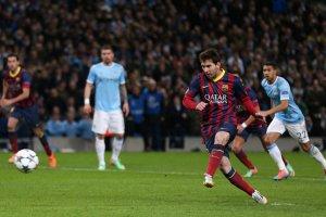 Man City 0-2 Barça Messi penalty 2014