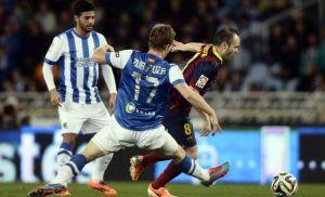 Real Sociedad 1-1 Barça Iniesta 2014