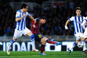 Real Sociedad 1-1 Barça Leo Messi goal 2014