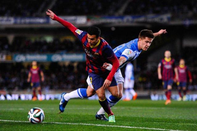 Real Sociedad 1-1 Barça Pedro 2014