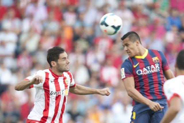 almeria 0-2 barcelona alexis 2013