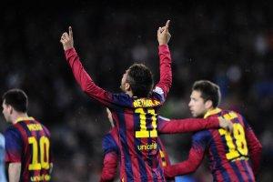 Barça 3-0 Celta Neymar celebrates goal