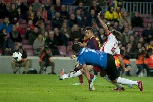 Barça 4-1 Almeria Alexis Sanchez goal 2014