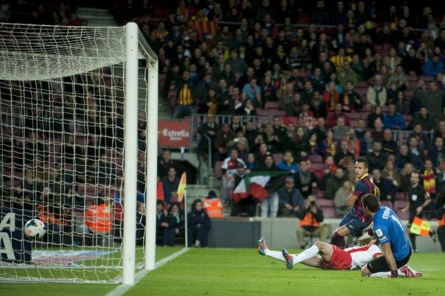 Barça 4-1 Almeria Alexis Sanchez scores first goal 2014