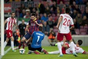 Barça 4-1 Almeria Leo Messi two-step 2014