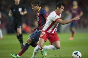 Barça 4-1 Almeria Neymar Rafita 2014