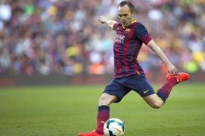 Barça 7-0 Osasuna Iniesta goal 2014