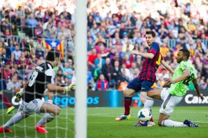 Barça 7-0 Osasuna Messi first goal 2014