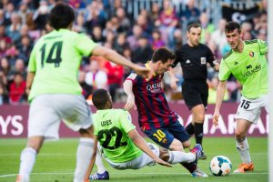 Barça 7-0 Osasuna Messi scores record 370th goal 2014