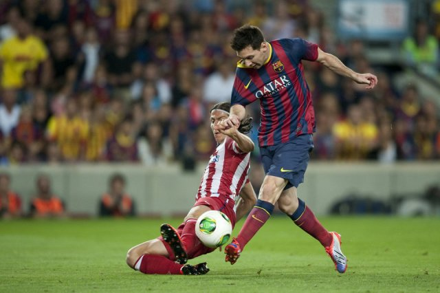barcelona 0-0 atletico madrid messi filipe luis 2013
