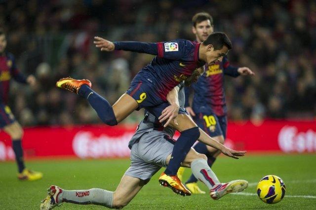 barcelona 5-1 osasuna alexis sanchez