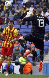 Espanyol 0-1 Barça Messi Casilla red card 2014