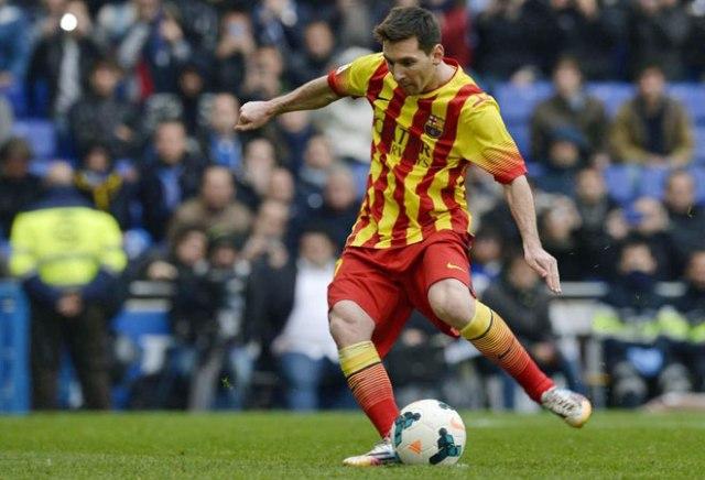 Espanyol 0-1 Barça Messi scores penalty 2014