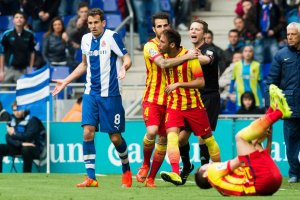 Espanyol 0-1 Barça Neymar protest 2014