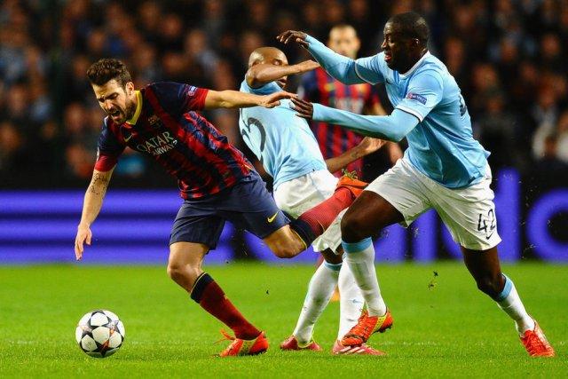 Man City 0-2 Barça Cesc Fabregas Toure Yaya 2014