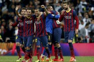 Real Madrid 3-4 Barça celebration 2014