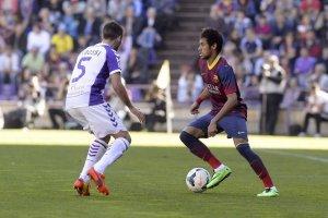 Valladolid 1-0 Barcelona Rossi Neymar 2014