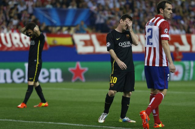 Atletico Madrid 1-0 Barça Fabregas Messi 2014