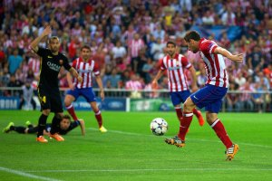 Atletico Madrid 1-0 Barça koke goal 2014