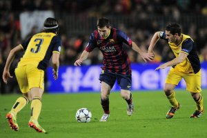 Barça 1-1 Atletico Madrid Messi Champions League quarter final 2014