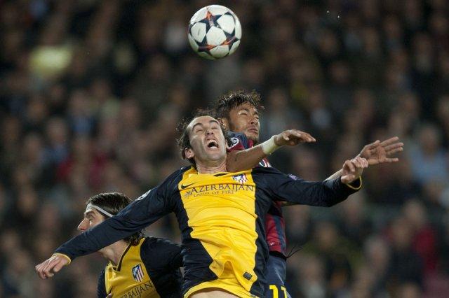 Barça 1-1 Atletico Madrid Neymar jump Champions League quarter final 2014