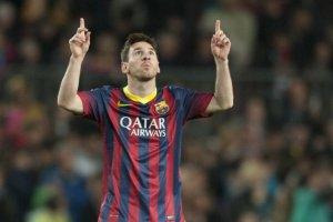 Barça 2-1 Athletic Messi goal celebration 2014